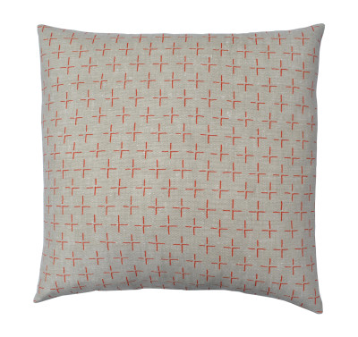 Brockley Cross Square Cushion Orange