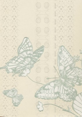 Bugs & Butterflies Wallpaper Ice Blue