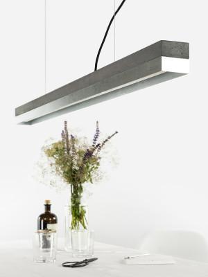 [C1] ZINC - Dimmable LED - Concrete & Zinc Pendant Light Dimmable, Dark Grey Concrete, Zinc