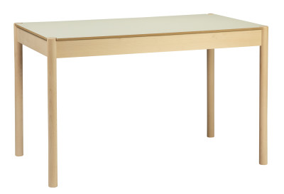 C44 Rectangular Dining Table White Top, Small