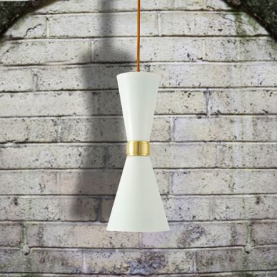 Cairo Contemporary Pendant Light  Powder Coated White