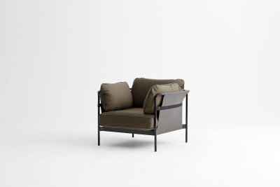 Can Lounge Chair Canvas Army, Black, Army