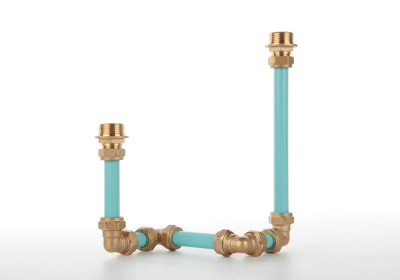 Candelabra Two Candle Holder Blue
