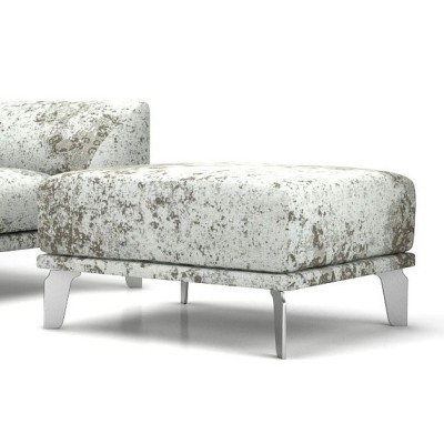 Canvas Footstool Cervino Leather Pure