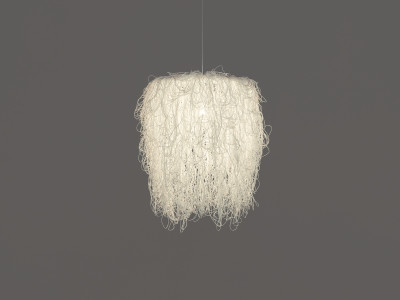 Caos Pendant Lamp Blue, Transparent Cable, Yes, Large