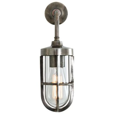 CARAC WELL GLASS WALL LIGHT Antique Silver