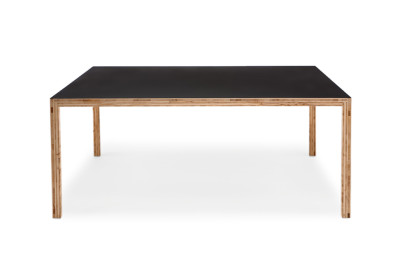 Caruso Dining Table Black Linoleum, L240