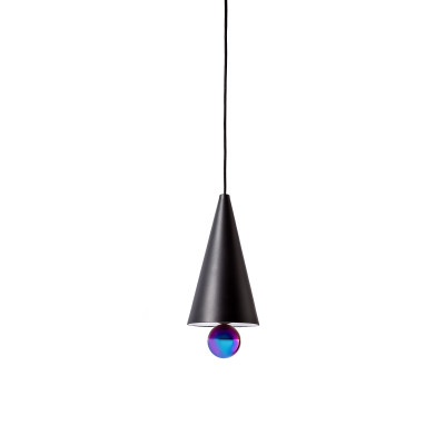 Cherry Narrow Pendant Light Black and Rainbow