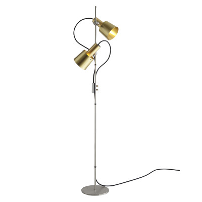 Chester Floor Lamp Satin Brass