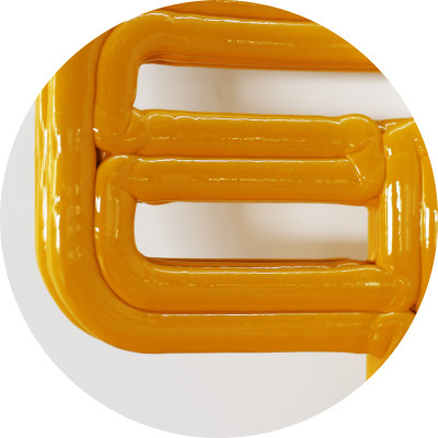 Detail of Chubby Chair, Yellow