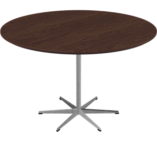 Circular Dining Table - 6-star base Laminate Special Colour Grey Efeso