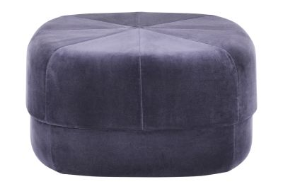 Circus Pouf Velour Purple, Large