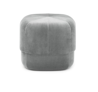Circus Velour Small Pouf Grey