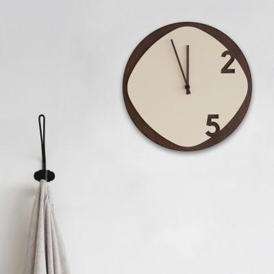 Clock25 brown / beige