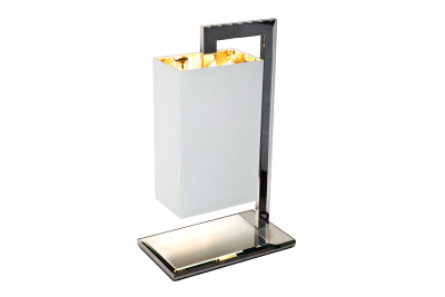 Coco Mega Table Lamp White percaline with gold lining