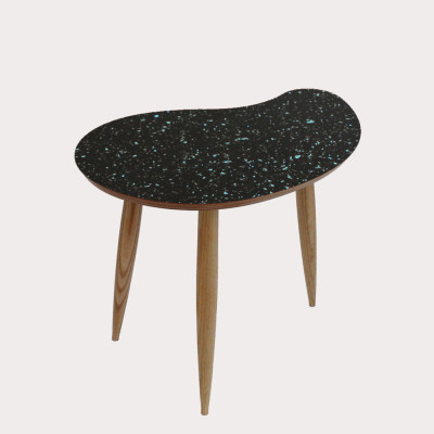 Comma Side Table Sparkled Black