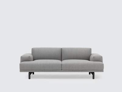 Compose 2 Seater Sofa Remix 2 113, Black