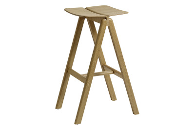 Copenhague Bar Stool Matt Lacquered Oak, Low