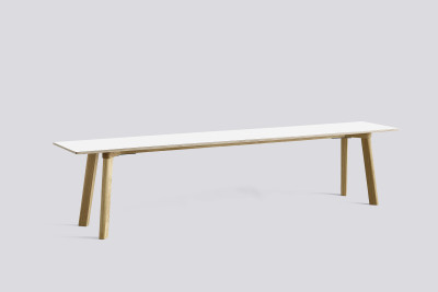 Copenhague Deux (CPH215) Bench Pearl White laminate, Matt Lacquer Oak, 200