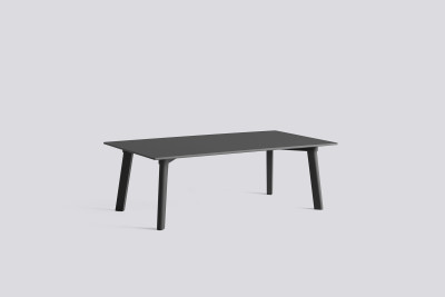 Copenhague Deux (CPH 250) Rectangular Low Table Stone Grey Laminate Top, Stone Grey Beech Base