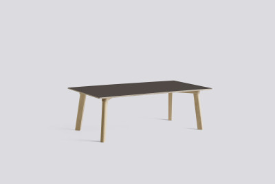 Copenhague Deux (CPH 250) Rectangular Low Table Beige Grey Laminate Top, Untreated Beech Base