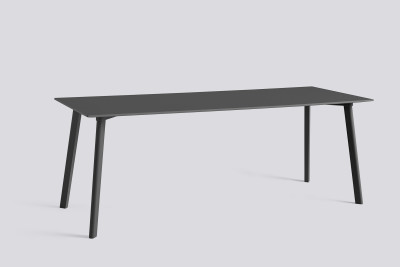 Copenhague Deux (CPH210) Rectangular Dining Table Stone Grey Laminate Top, Stone Grey Beech Base, 200cm
