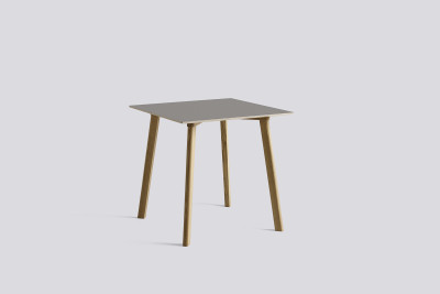 Copenhague Deux (CPH210) Square Dining Table Beige Grey Laminate Top, Matt Lacquered Oak Base