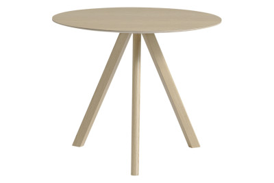 Copenhague Veneer Top Round Dining Table CPH20 Matt Lacquered Oak, Small