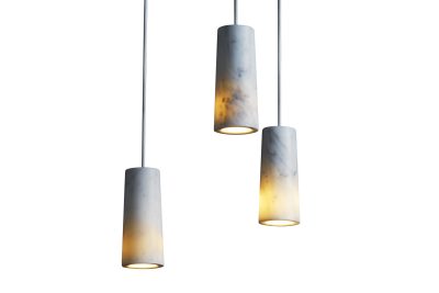 Core Three Pendant Cluster Carrara Marble