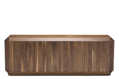 Corner Sideboard with Doors Walnut, 220cm