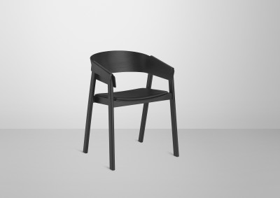 Cover Chair Leather Seat Silk Black/Black