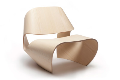 Cowrie Occasional Chair Plywood Faced Ash