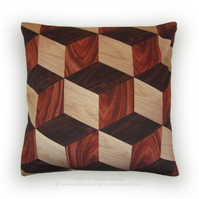 Cube 6 Cushion Wood