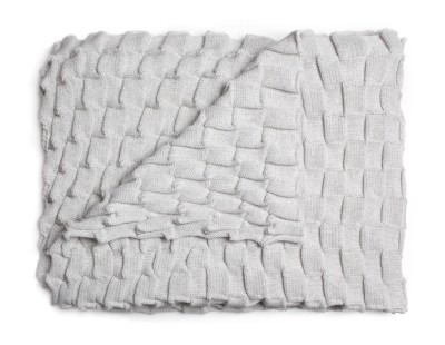 Curly Throw - set of 2 White grey
