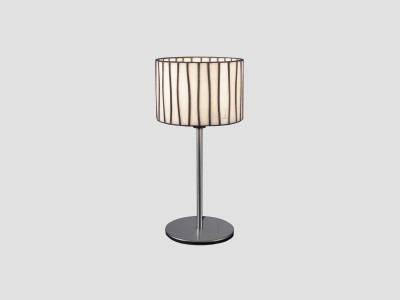 Curvas Table Lamp Red, Transparent Cable