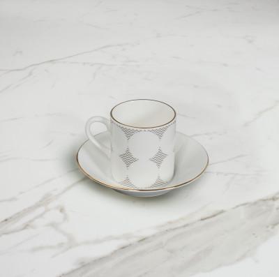 Curve Espresso Cup & Saucer  No. 4