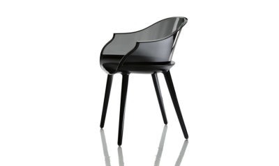 Cyborg Armchair Black Seat, Smoke Grey Back