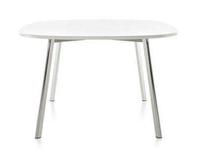 Déjà-vu Dining Table - Round White Top, 98 cm