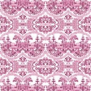 Pink - Delft Baroque Wallpaper