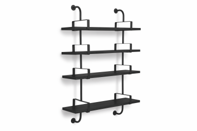 Démon 4 Bookshelves Black Stained Beech, 95 cm