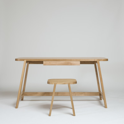 Desk Three Oak