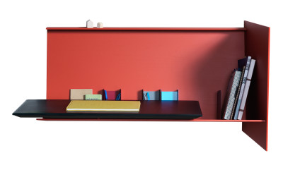 Deskpad Right Side, Coral Red
