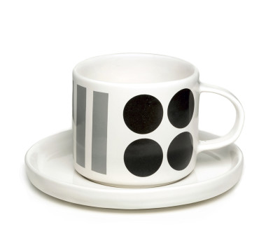 DIDO cup and saucer Black/grey