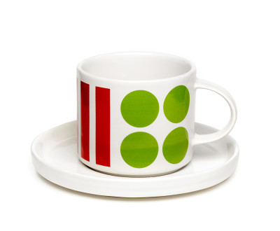 DIDO cup and saucer multi coloured
