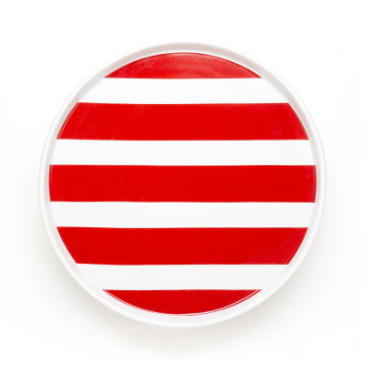 DIDO plate - stripes red