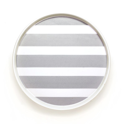DIDO plate - stripes grey