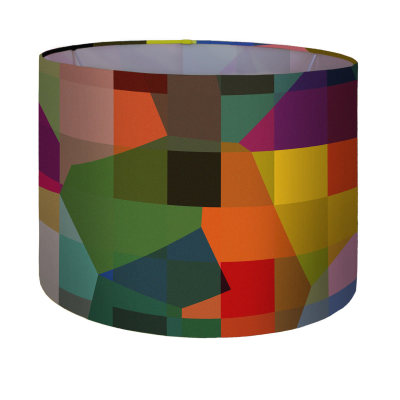 Digital Glitch lampshade large pendant & floor