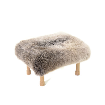 Dilys Sheepskin Footstool  Rare Breed