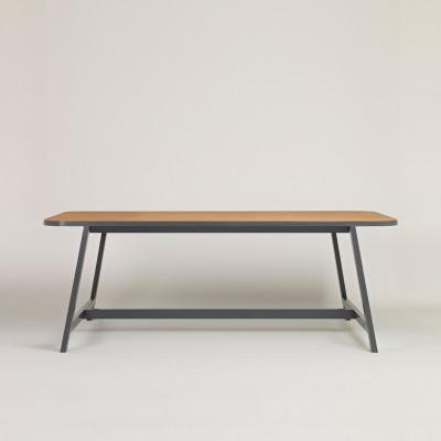 Dining Table Three Oak, Chamberlayne Grey, 200 cm Long