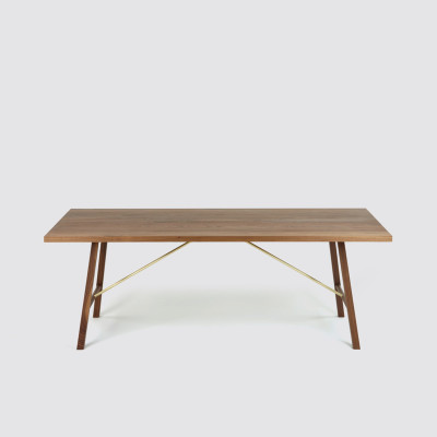 Dining Table Two Walnut, 220 cm Long